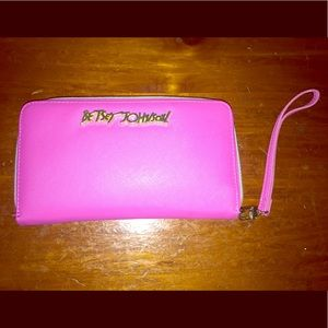 Betsey Johnson Pink and Gold Wallet